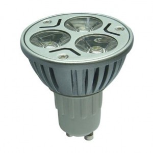 LED-spotlight med GU10-sockel 3x1W