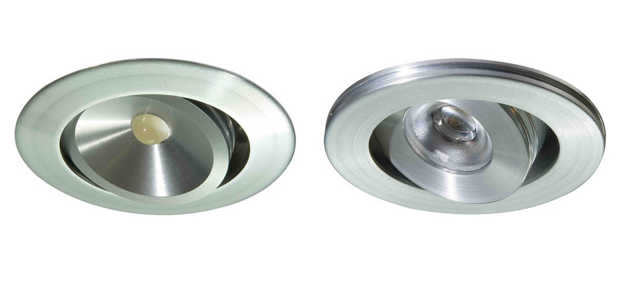 Yicontak.007 samt 008 3W LED-downlight
