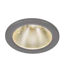 15W LED Downlight silver-grå, varmvita LED 750lm
