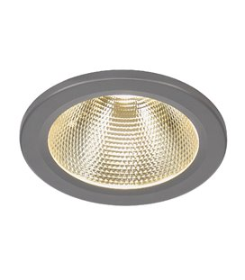 15W LED Downlight silver-grå, kallvita LED 1100lm