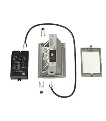 HQI-TS Downlight kit DL 150W, silver-grå