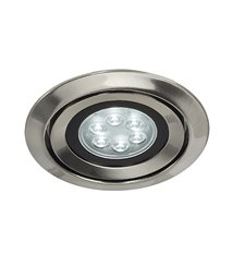 Luzo Integrated LED 4000K borstad-metall