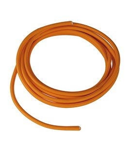Textilmantlad PVC-kabel 3x 0,75 mm2 orange