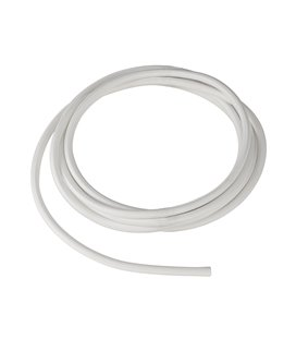 Textilmantlad PVC-kabel 3x 0,75 mm2 vit