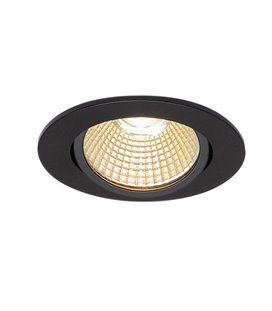 New Tria 68 Led DL Round Svart 3000K