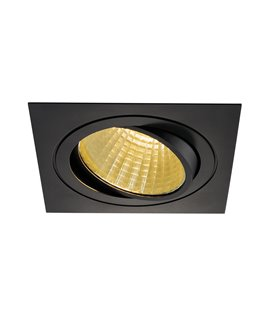 New Tria LED DL Square Svart 2700K