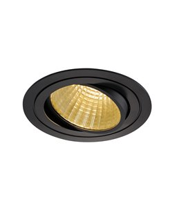 New Tria LED DL Round Svart 2700K