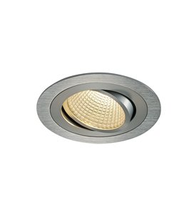 New Tria 1 LED DL Round Borstad alu. 3000K
