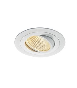 New Tria 1 LED DL Round Vit, 3000K
