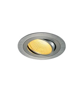 New Tria 1 LED DL Round Borstad alu. 2700K