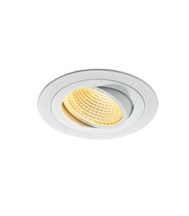 New Tria 1 LED DL Round Vit, 2700K