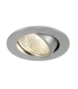 New Tria LED 3W DL Round Set. borstad aluminium