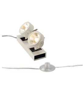 KALU LED 2 Floor Vit/svart