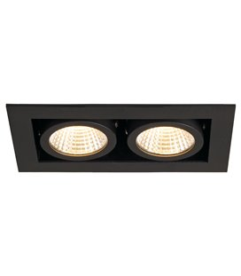 KADUX LED DL Double 2x9W Svart