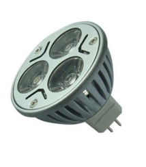 LED-belysning, 3x1W, 12V, mr16