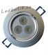 Infälld LED-downlight 3x3W dimbart paket inkl. transformator.