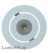 Dimbar lysdiod, vitlackerad - Paket 6 LED-downlights inkl trafo.