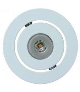 Vit LED-downlight, varmvit
