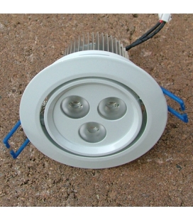 Vitlackerad LED-downlight 3x3W - paket med transformator