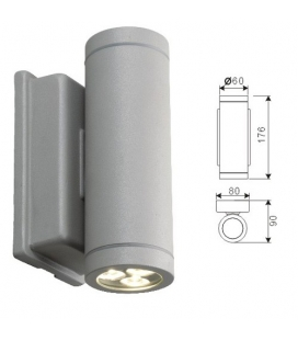 More about LED-fasadbelysning, vägglampa - cylinderformad, 2x3W