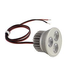 LED MR16 Insats 3x 1W MR16 LED 3x1,2W, 350mA, warm white LED, 15°